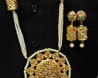 Kundan jewelry ,indian jewelry ,kundan mala ,pakistani jewelry