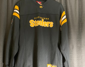 e964f1758 90s vintage pittsburgh steelers jersey crewneck