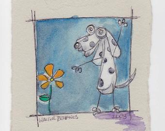 Surprise  - Original Watercolor