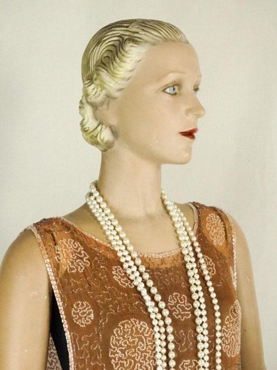 1920s Beaded Evening Dress Silk Chiffon Flapper O… - image 8