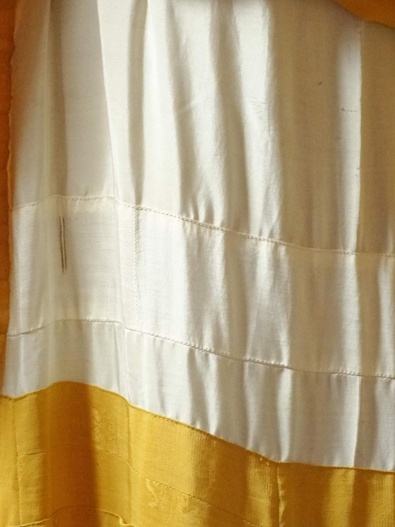 1920s Flapper Day Dress Pleated Silk Drop Waist G… - image 9