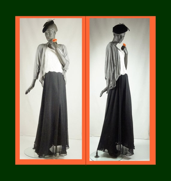 1930s 1940s Style Evening Ensemble: Skirt, Tops, J