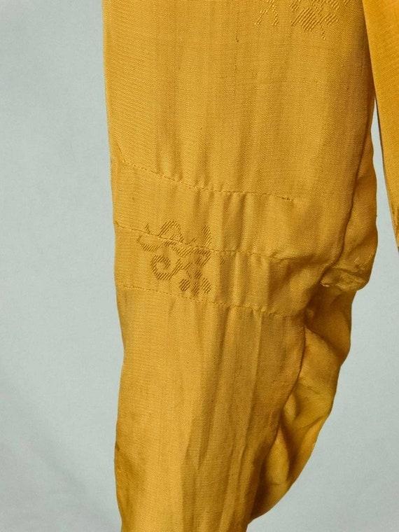 1920s Flapper Day Dress Pleated Silk Drop Waist G… - image 8