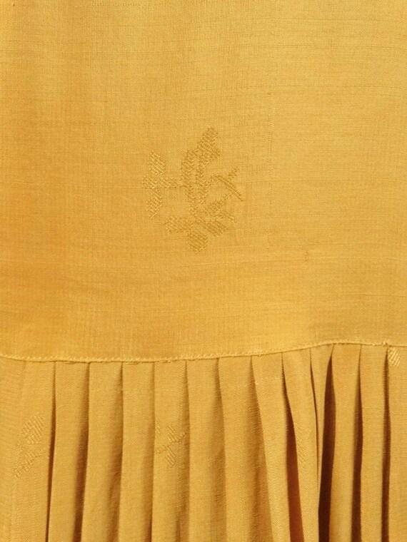 1920s Flapper Day Dress Pleated Silk Drop Waist G… - image 6