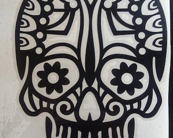 Tribal Skelton Vinyl Decal