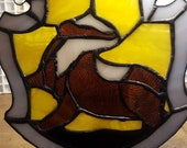 Stained Glass Hogwarts Hufflepuff Crest