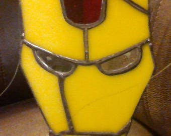 Stained Glass Iron Man Mask