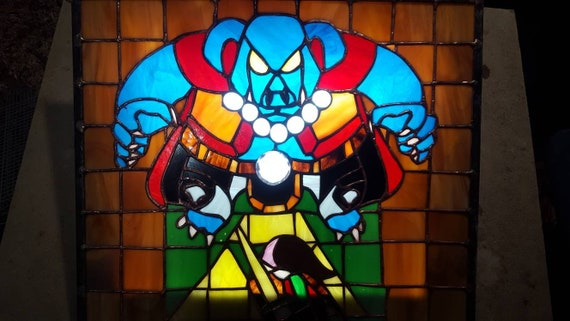 Stained Glass Link To The Past Ganon Vs Link Window