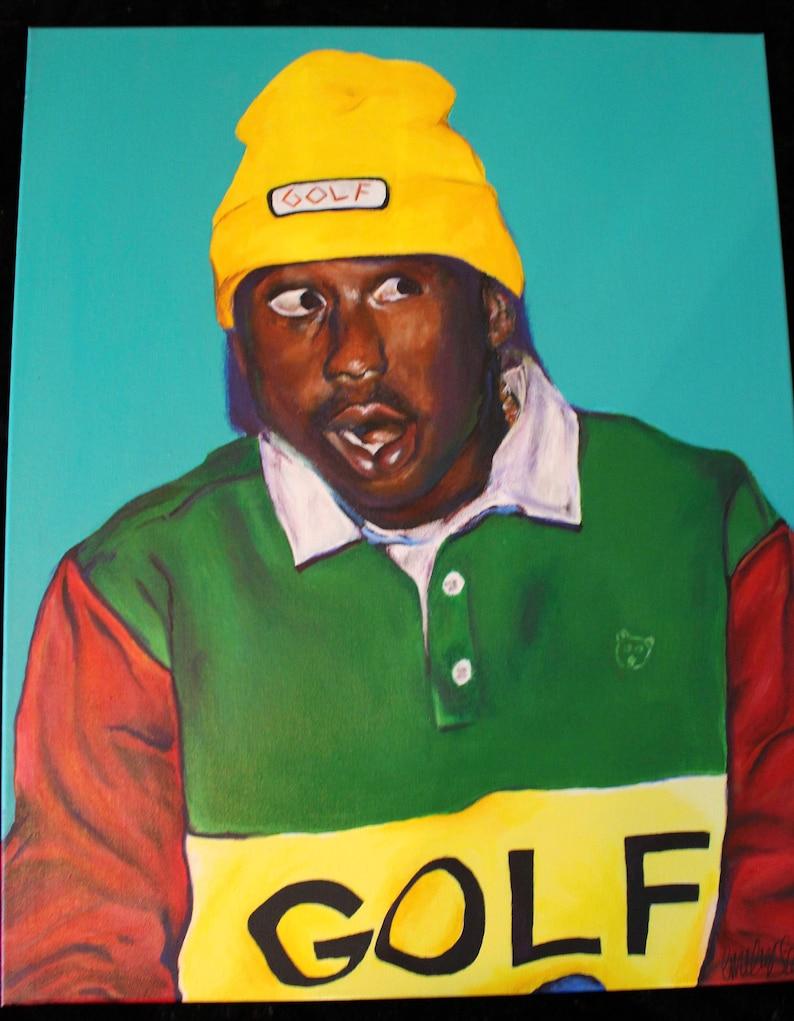 507cf56e6bd4ff Tyler The Creator GOLF acrylic 24 30 Canvas painting