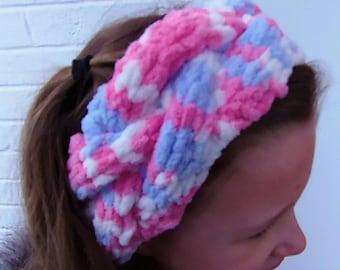 Handknit Braided Girls Headband Earwarmer