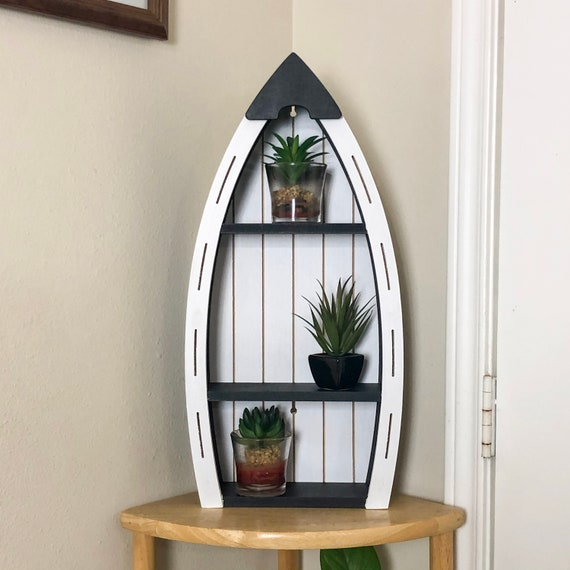 Nautical Wooden Boat Shelf Nautical Home Decor Room Decor Etsy