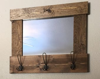 Mirror with hooks | Entry mirror
