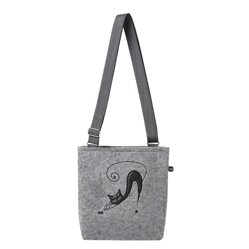 Mini bag felt with cat Funnycat 712