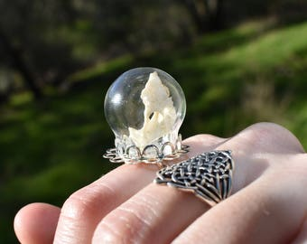 Mouse Bone Orb Ring