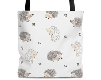 Hedgehog illustration Tote Bag, Cute Hedgehog Drawing. Hedgehog lover gift, Hedgehog print, Sac Bandouliere, Sac Fourre Tout