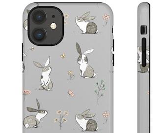 Cute Rabbits iPhone & Samsung Case. Matte/Glossy Finish. iPhone 8 Plus, X XR XS max, 11 Pro Max, 12 Mini/Pro Max. Galaxy S20 Ultra/Plus S10E