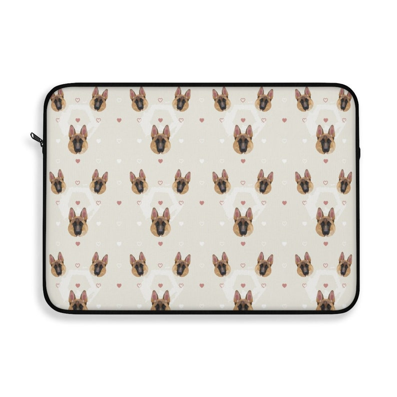 German Shepherd Laptop Sleeve/Pouch with zipper Soft Lining image 0