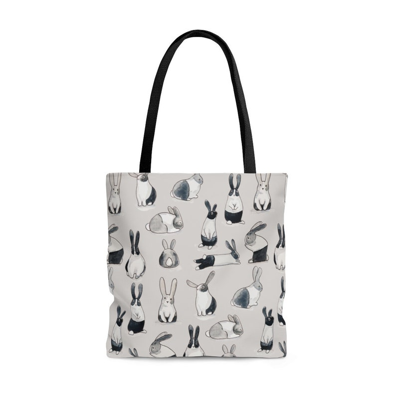 Cute Rabbit Tote Bag Rabbit lover gift Bunny Rabbit Owner image 0