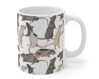 Pet Rat Lover Mug - Coffee Mug, Rat Lover Gift, Cute Rat Mug, Mouse Rat, Ratte, Gift for rat owner, Fancy Rat Mug