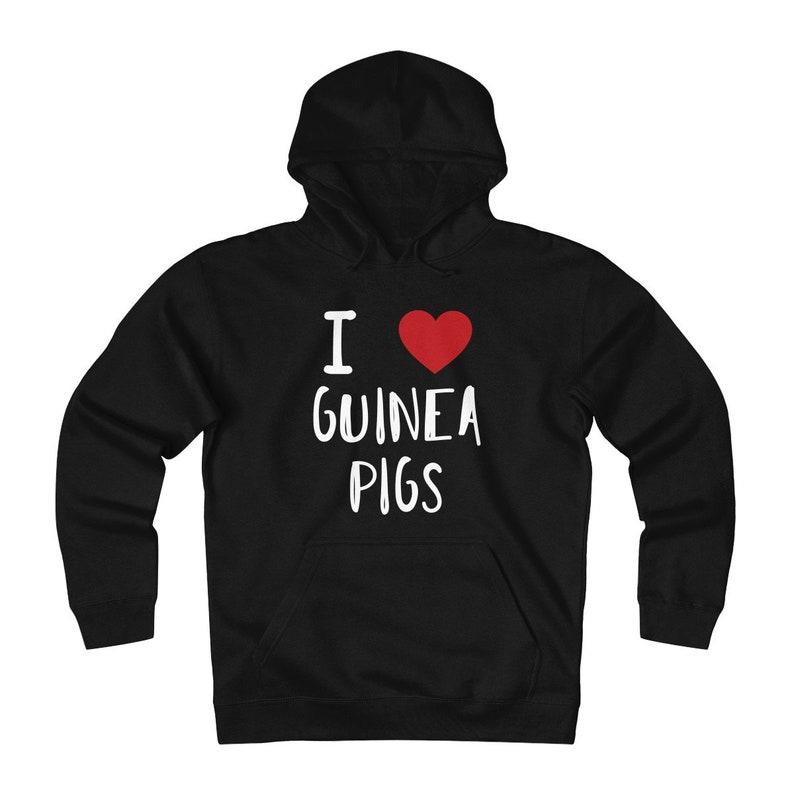 I Love Guinea Pigs Fleece Sweater Men's Crewneck image 0