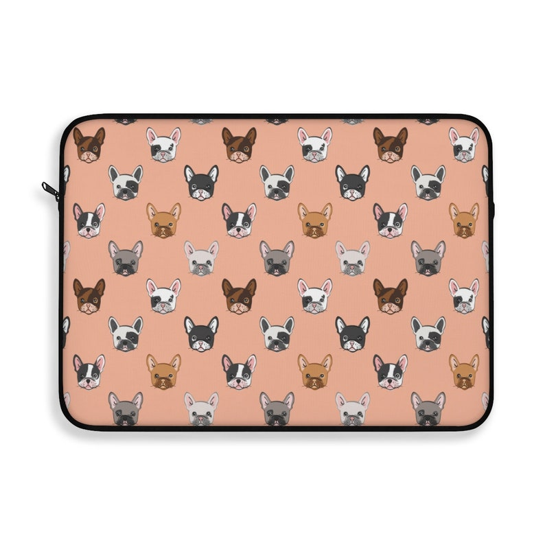 French Bulldog Laptop Sleeve/Pouch with zipper Soft Lining image 0