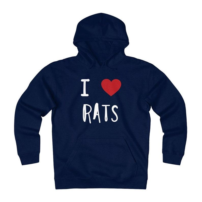 I Love Rats Men's Fleece Hoodie Heavyweight Hoodie Mouse image 0