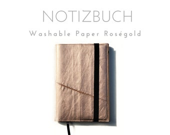 Roségoldenes Notebook   Washable paper   Case A5 Book   Cover Booklet   Travel Diary   Organizer Folder   Diary   Planner   Notebook