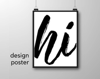 Design Poster | Hi | Image | Hallway | family | Gift Family | Typo | Writing | Gift to move in | Poster Students Bude | first apartment