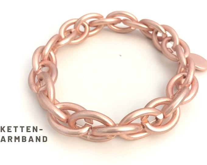 Elastic Chain Bracelet | matt | stylish link bracelet | Chain bracelet in rose gold | silver | gold | Elastic
