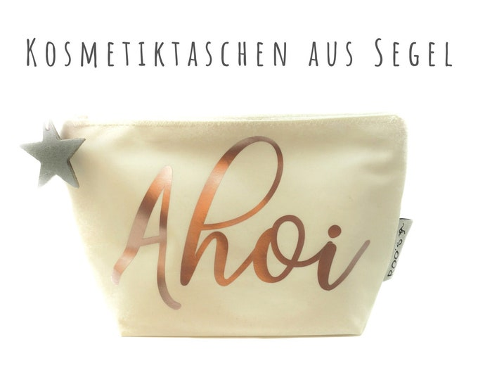 "White cosmetic bag from sail ""Ahoi"" 