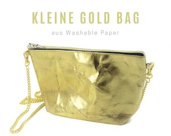 Small golden bag from Washable Paper | Shoulder bag | Crossbody Bag | Cosmetic bag | Clutch | Handbag