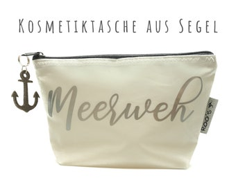 "White cosmetic bag from sail ""Seapain"" 