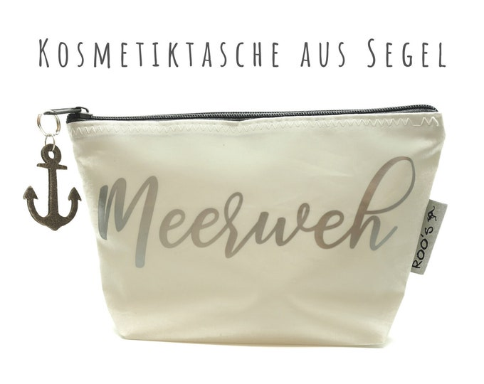 """White cosmetic bag from sail """"Seapain"""" 