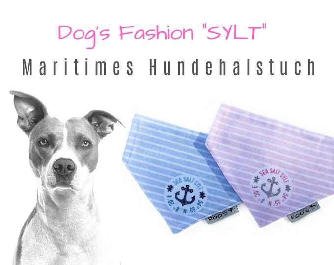 """Maritime Dog Scarf """"Sylt"""" 