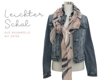 Very light cotton cloth with silk | dip dye style | washed strips | nude pink blue | Batik Look