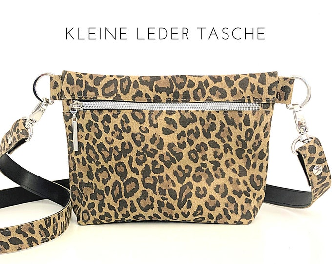 Small Leo Leather Handbag | Leopard | Shoulder bag | Crossbody Bag | narrow strap | Animal Print Leo Look | Genuine leather