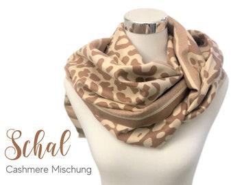 Large cashmere scarf | Leo | beige cream camel | woven cloth | 180 x 65 cm | Cashmere Blend | Pashmina | XXL Cloth | Stole