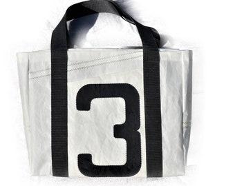 Shopper   Bag from Original Sail   Tote bag   Tote Bag   black and white   Upcycling   Sailing bag