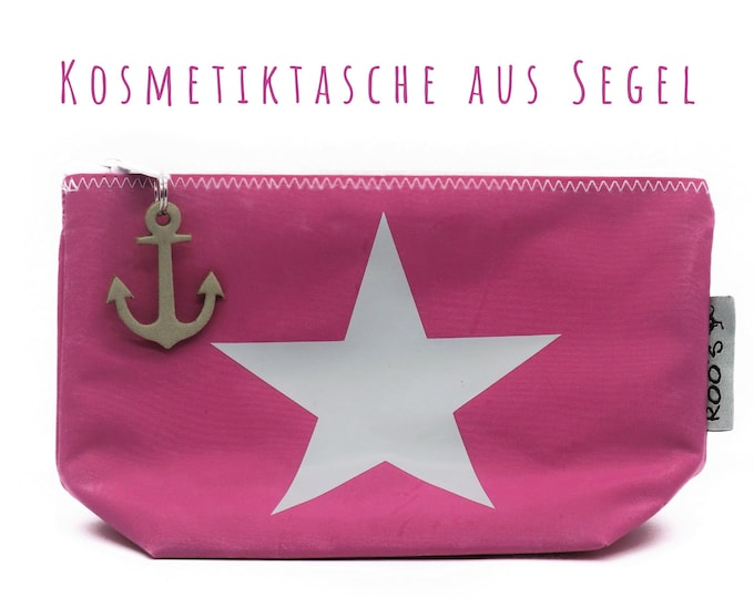 """Pink cosmetics bag from sail """"Star"""" 
