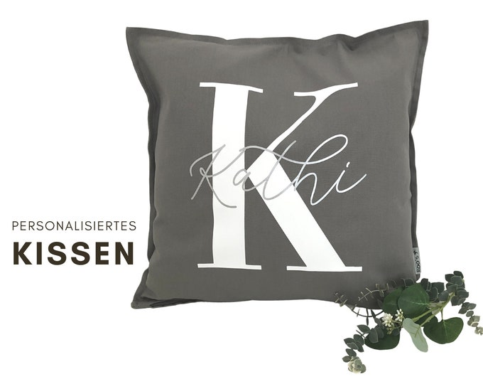 Personalized Pillow | by name | Pillow cover | Letter | Name cushion | Cushion cover with font | individual gift
