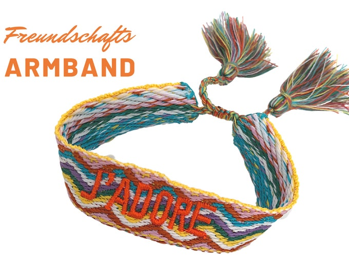 JADORE | Colorful web bracelet | Ethno Style | orange | Gift for Mother's Day