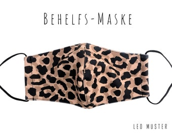 Leo Mask | Fabric Mask | Mouth covering | Face Mask | Elastic Mask Leopard Pattern | Fashion mask