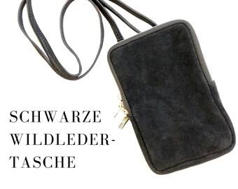 Purse   black bag   Genuine Leather   Shoulder bag   Smartphone   narrow strap   Mobile Phone Chain   Phone Case   Bag   Suede