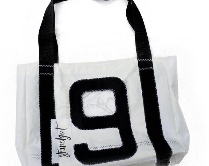 Shopper | Bag made of original sail | Shopping Bag | Tote Bag | black white | Upcycling | sail bag