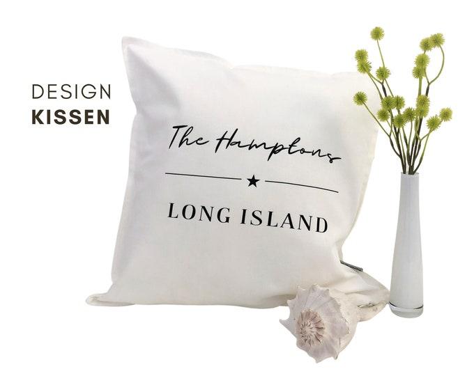 Design Pillow | The Hamptons | Cotton pillowcase | Hamptons Style | Strandhaus | Beach Coastal Living | Long Island | maritime decoration