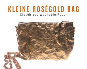 Small rose gold bag from Washable Paper | Shoulder bag | Crossbody Bag | Cosmetic bag | Clutch | Handbag