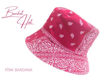 Pinker Bucket Has   Reversible hat   Reversible fishing hat   Fisherman's hat   Summer hat   Sun hat   Paisley   Bandana Print   black inside