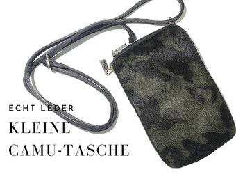 Purse | Bag with Fur Tiger | Genuine Leather | Shoulder bag | Mobile Phone Chain | narrow strap | Phone Case | Fur | Bag | Animal Print