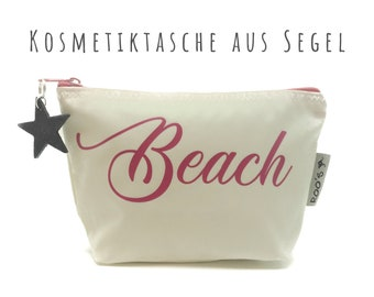 "White cosmetic bag from sail ""Beach"" 