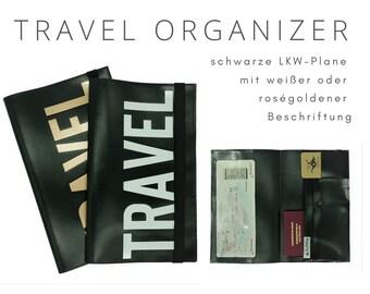 Travel Organizer from truck tarpaulin   Travel Documents Etui   Document folder   Traveler   Reisehülle   Passport Case   portfolio travel case